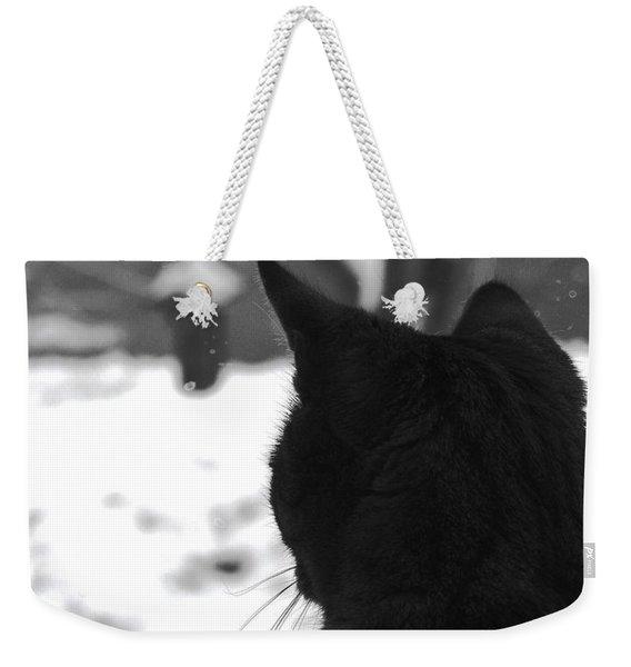 Contemplating Winter Weekender Tote Bag