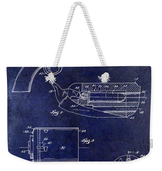 Conversion Cylinder 45 Long Colt Ammunition Blue Weekender Tote Bag