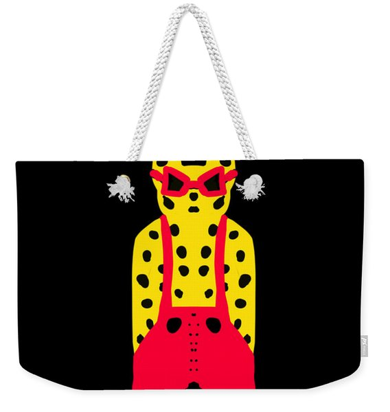 Cool For Cats In Red Dungarees Weekender Tote Bag