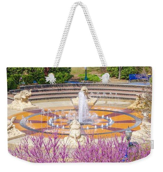 Coolidge Park Fountain In Spring Weekender Tote Bag