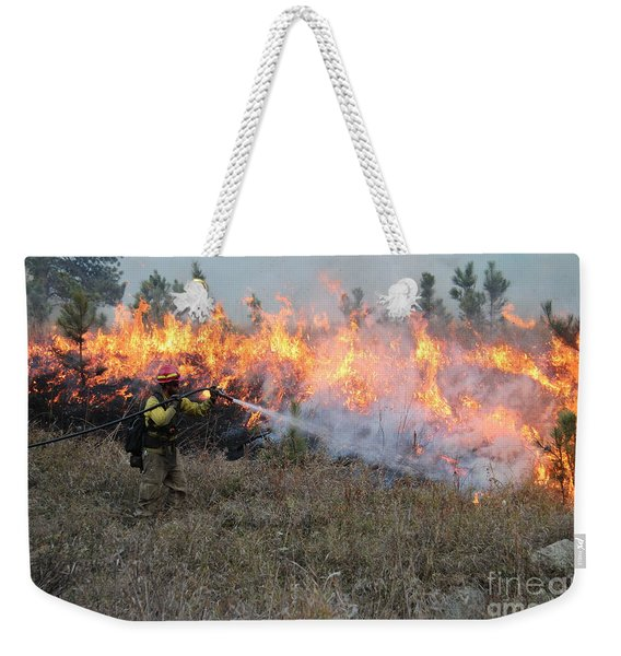 Cooling Down The Norbeck Prescribed Fire. Weekender Tote Bag