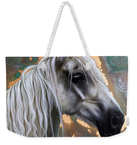Weekender Tote Bag featuring the painting Copper Horse by Sandi Baker