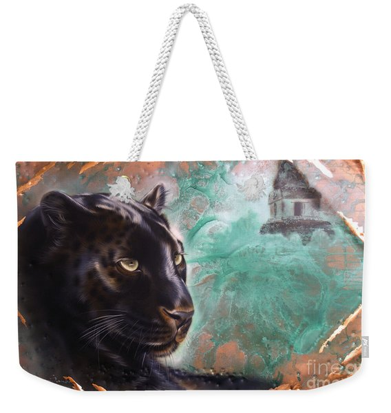 Copper Jaguar Weekender Tote Bag