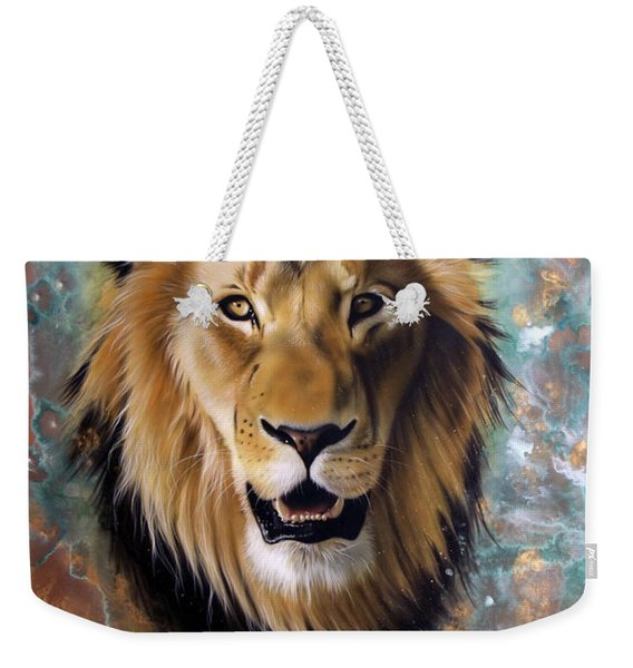 Copper Majesty - Lion Weekender Tote Bag
