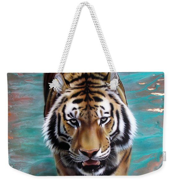 Copper Tiger 3 Weekender Tote Bag