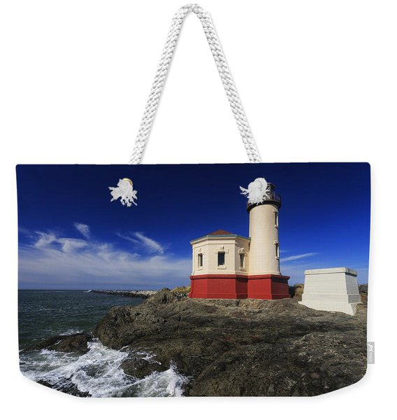 Coquille River Lighthouse 3 Weekender Tote Bag