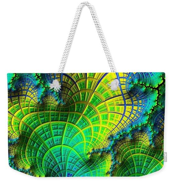 Coral Electric Weekender Tote Bag