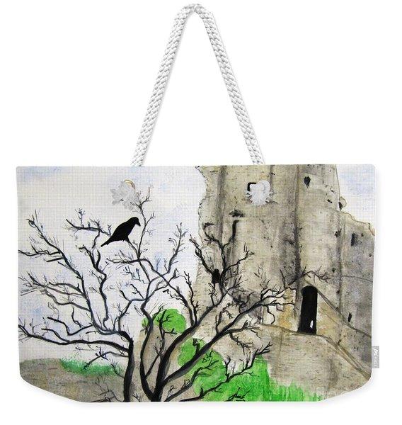 Corfe Castle And Crow Weekender Tote Bag