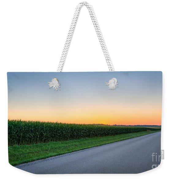 Corn Rows Less Traveled Weekender Tote Bag