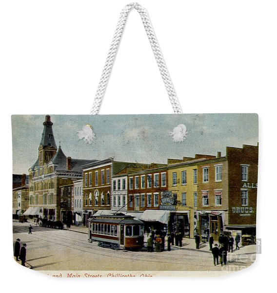 Corner Of Paint And Main - Chillicothe Ohio Weekender Tote Bag