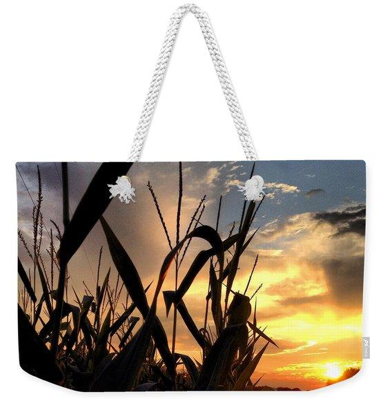 Cornfield Sundown Weekender Tote Bag