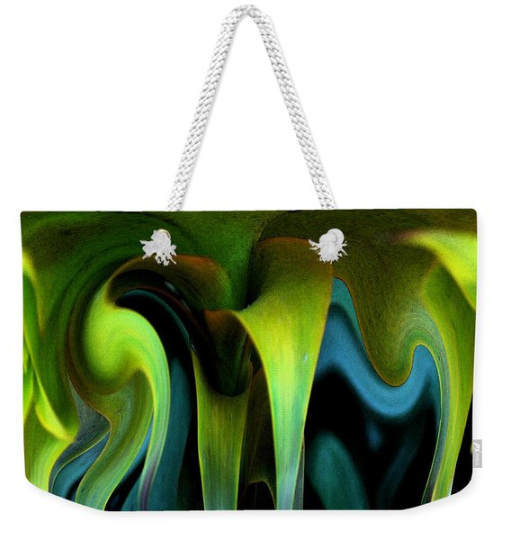 Weekender Tote Bag featuring the photograph Cornflower Abstract No1 by Wayne King