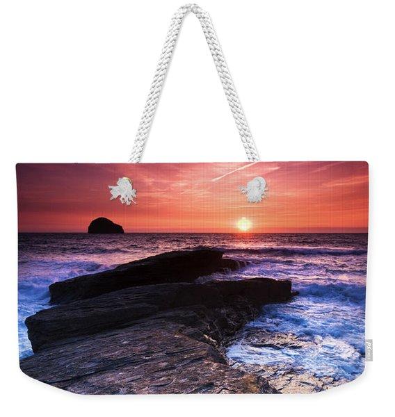 Cornish Sunset Weekender Tote Bag