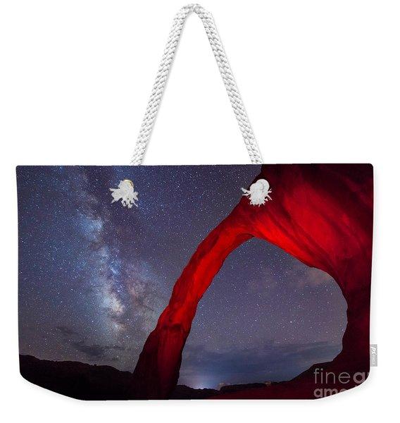 Corona Arch Milk Way Red Light Weekender Tote Bag
