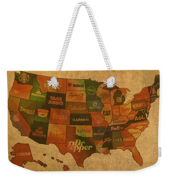Corporate America Map Weekender Tote Bag