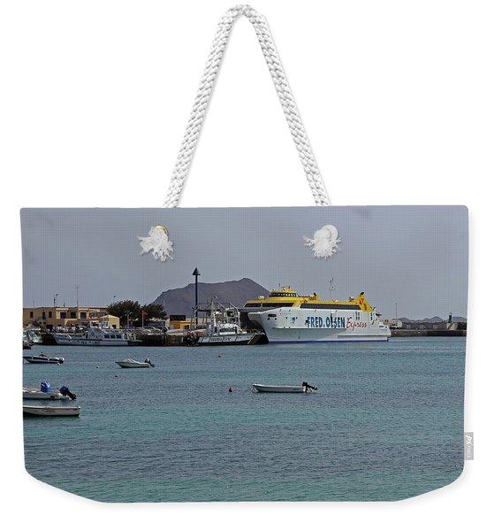 Corralejo Harbour Weekender Tote Bag