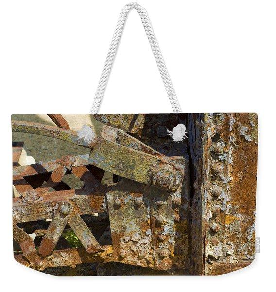Corroded Steel Weekender Tote Bag