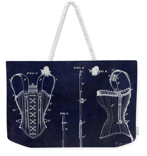1874 Corsets Patent Blue Weekender Tote Bag
