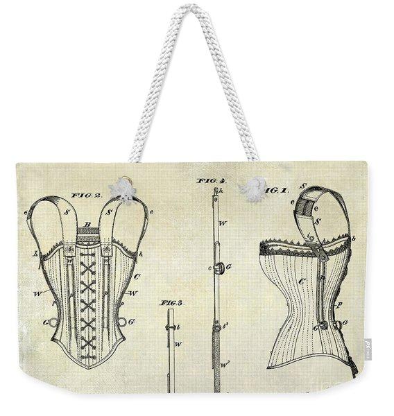 Corsets Patent 1874 Weekender Tote Bag