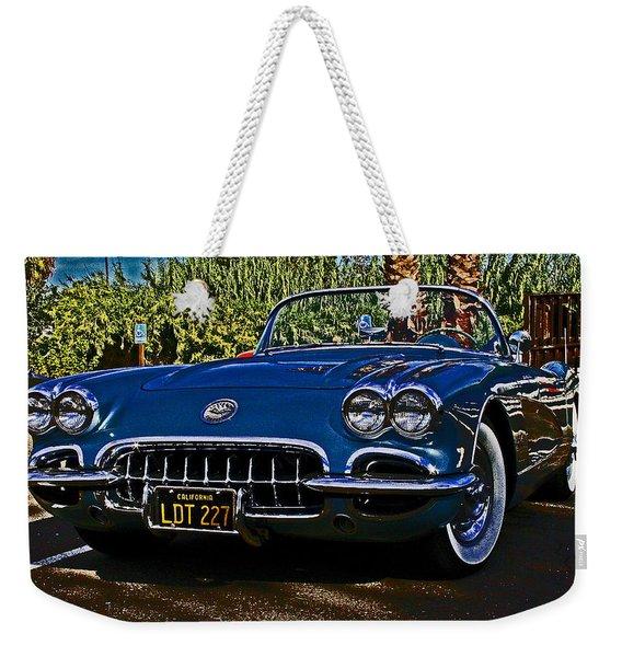 Corvette Born 1958 Weekender Tote Bag