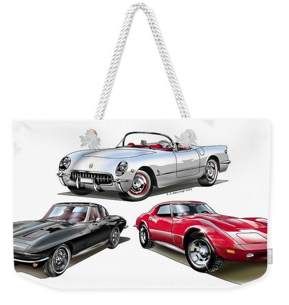 Corvette Generation Weekender Tote Bag