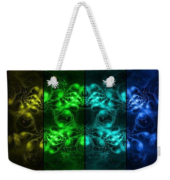 Cosmic Alien Eyes Pride Weekender Tote Bag