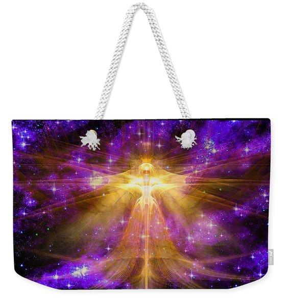 Cosmic Angel Weekender Tote Bag