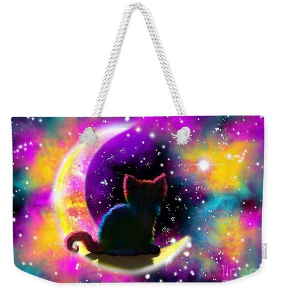 Cosmic Cat Weekender Tote Bag