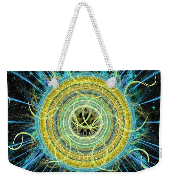 Cosmic Circle Fusion Weekender Tote Bag