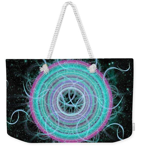 Cosmic Circle Weekender Tote Bag