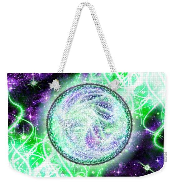 Cosmic Lifestream Weekender Tote Bag