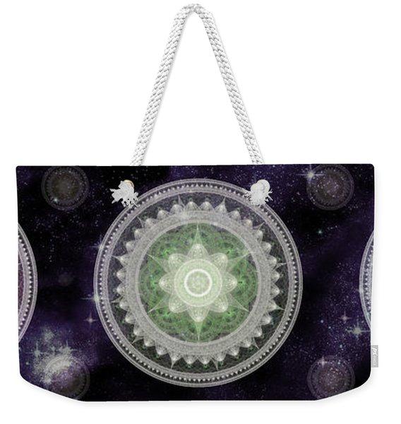 Cosmic Medallians Rgb 2 Weekender Tote Bag