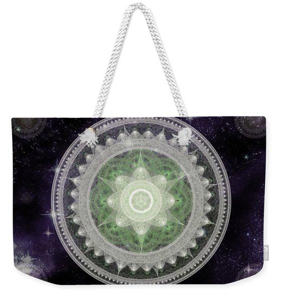 Cosmic Medallions Earth Weekender Tote Bag