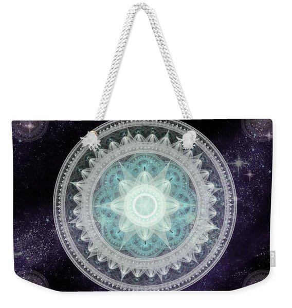 Cosmic Medallions Water Weekender Tote Bag