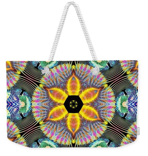 Cosmic Spiral Kaleidoscope 13 Weekender Tote Bag