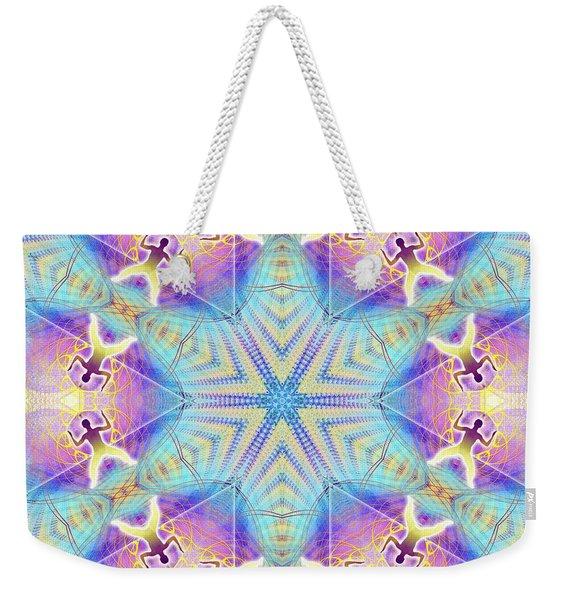 Cosmic Spiral Kaleidoscope 17 Weekender Tote Bag