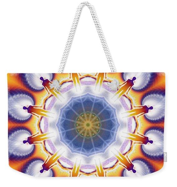 Cosmic Spiral Kaleidoscope 34 Weekender Tote Bag
