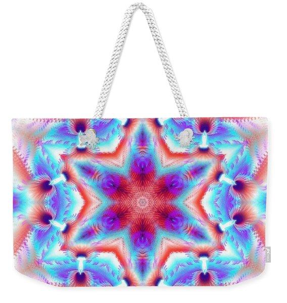 Cosmic Spiral Kaleidoscope 45 Weekender Tote Bag