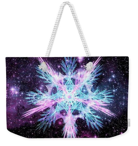 Cosmic Starflower Weekender Tote Bag