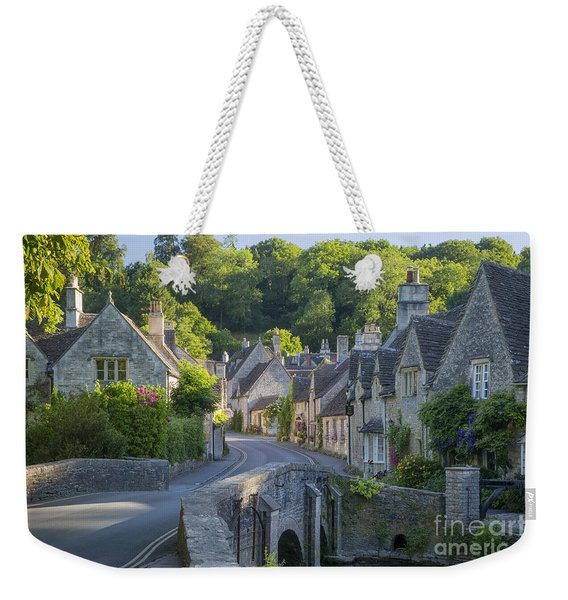 Weekender Tote Bag featuring the photograph Cotswold Village by Brian Jannsen