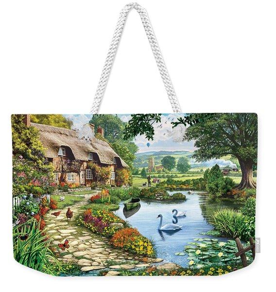 Cottage By The Lake Weekender Tote Bag