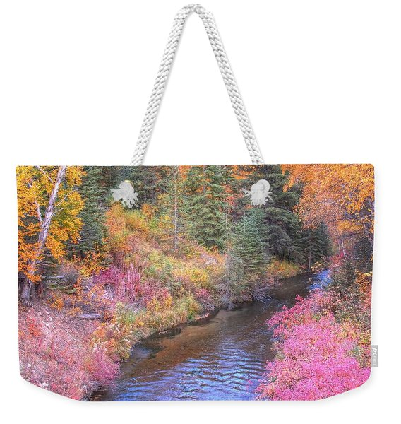 Cotton Candy Creek Weekender Tote Bag