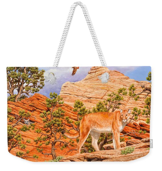 Cougar - Don't Move Weekender Tote Bag