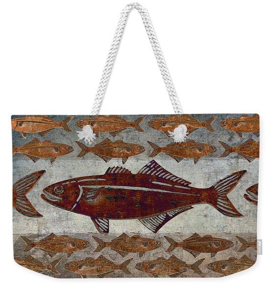 Counting Fish Weekender Tote Bag