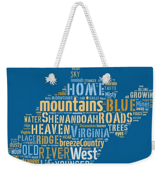 Country Roads 3 Weekender Tote Bag