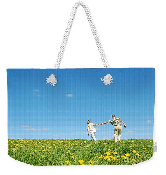 Couple Having Fun Weekender Tote Bag