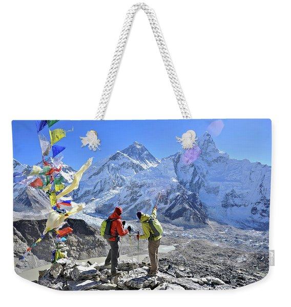 Couple Trek In The Khumbu Region Weekender Tote Bag