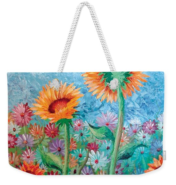 Courting Sunflowers Weekender Tote Bag