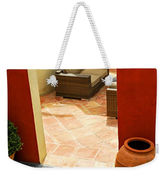 Courtyard Of A Villa Weekender Tote Bag
