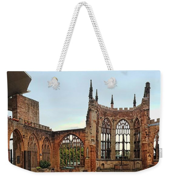 Coventry Cathedral Ruins Panorama Weekender Tote Bag